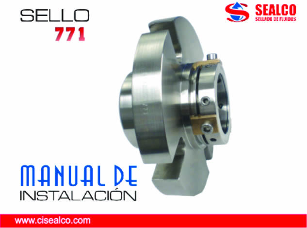 manual instalacion sello mecanico 771