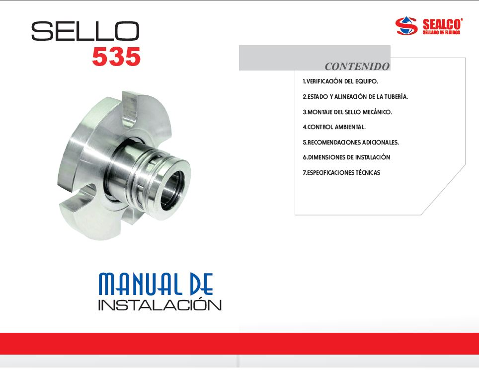 manual instalacion sello mecanico 535